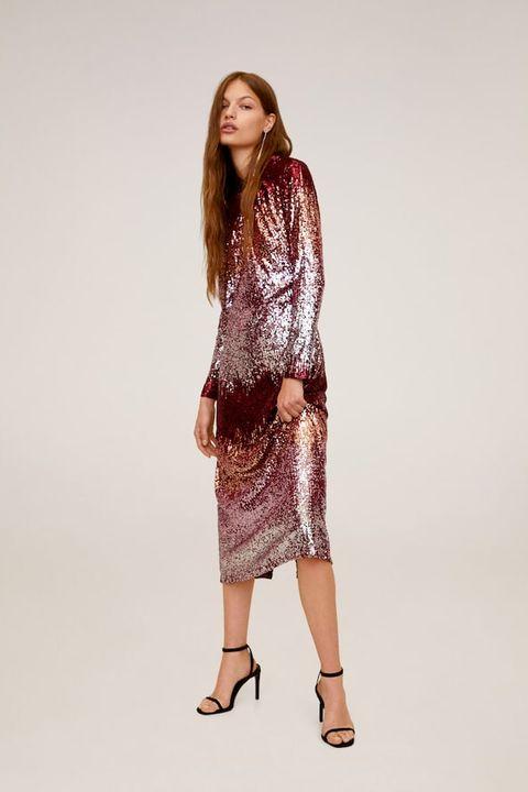 what wear winter wedding – Winter wedding guest dresses pink metallic
