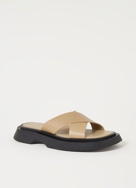 mango slippers bijenkorf