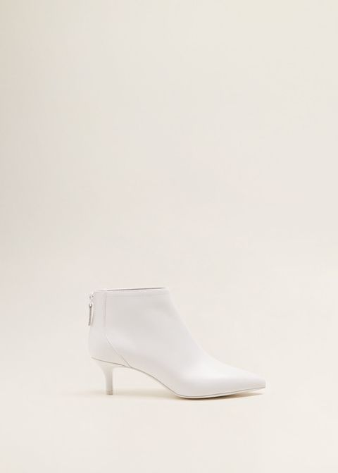 Footwear, White, Shoe, High heels, Beige, Slingback, Court shoe,