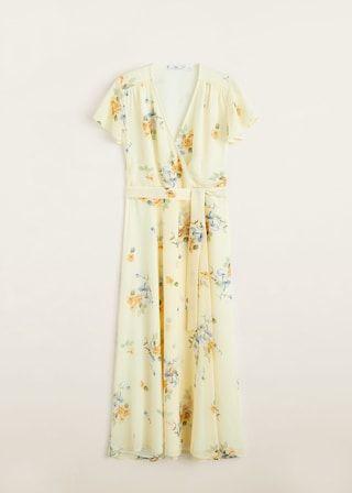 Mango floral yellow dress