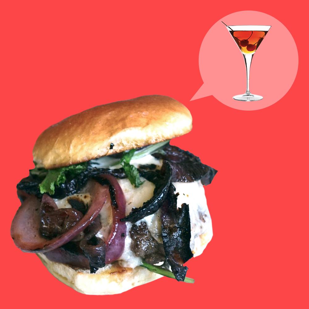 How to Make a Burger That Tastes Like a Manhattan Cocktail