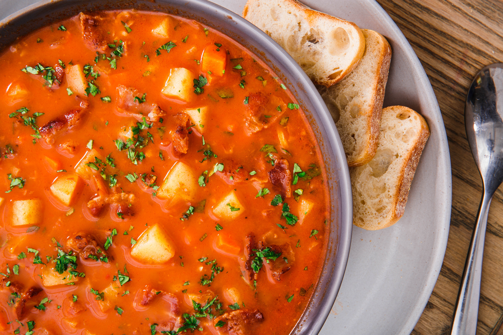 Best Manhattan Clam Chowder Recipe - How To Make Manhattan Clam Chowder