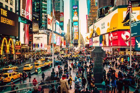 Manhattan Times Square at night