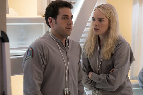 Emma Stone and Jonah Hill in the Netflix show Maniac