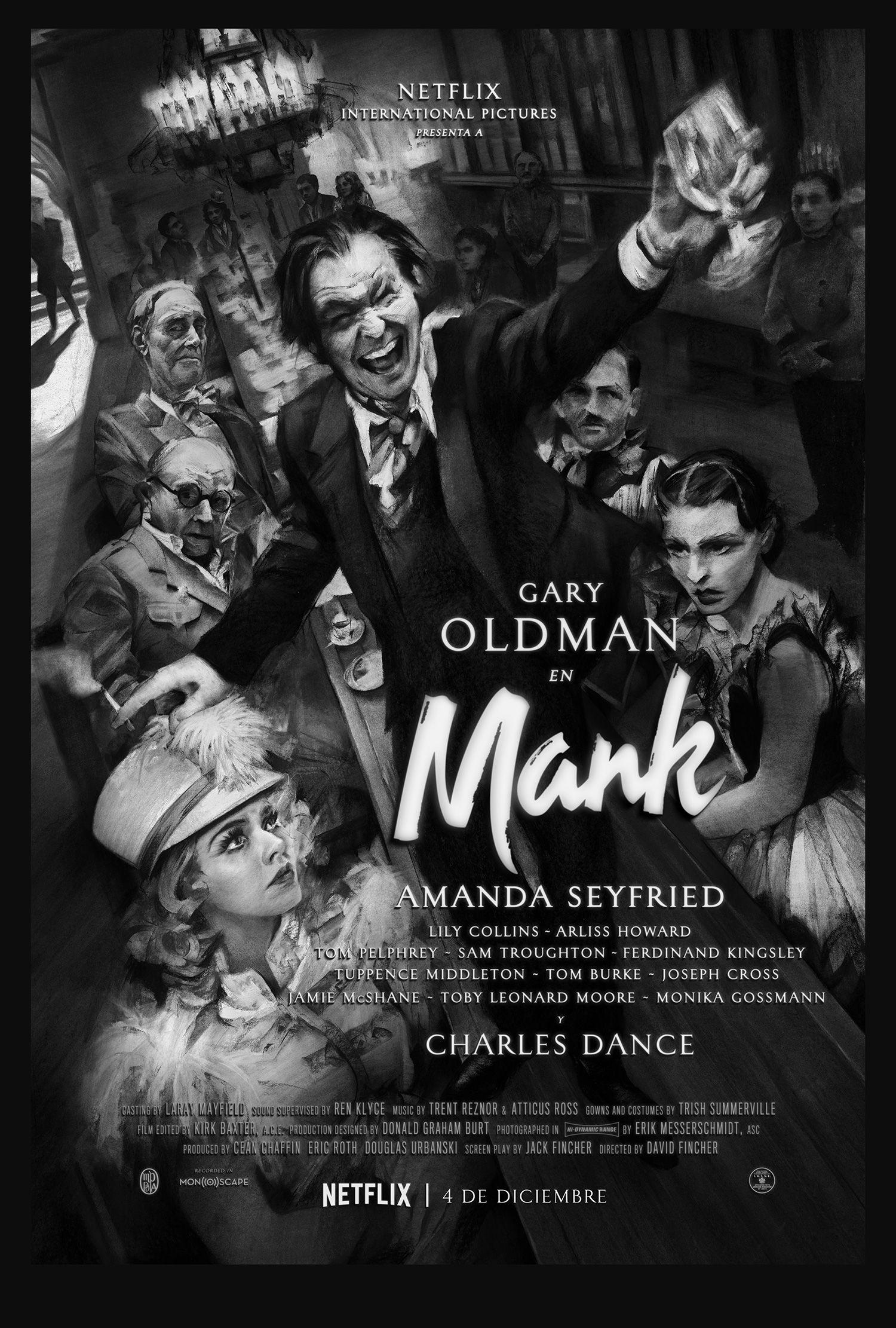 Mank': Tráiler, cartel y fecha de la película de David Fincher en Netflix