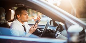 Mannen agressief verkeer