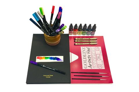 Writing implement, Office supplies, Colorfulness, Purple, Stationery, Violet, Pencil, Document, Paper product, Publication,