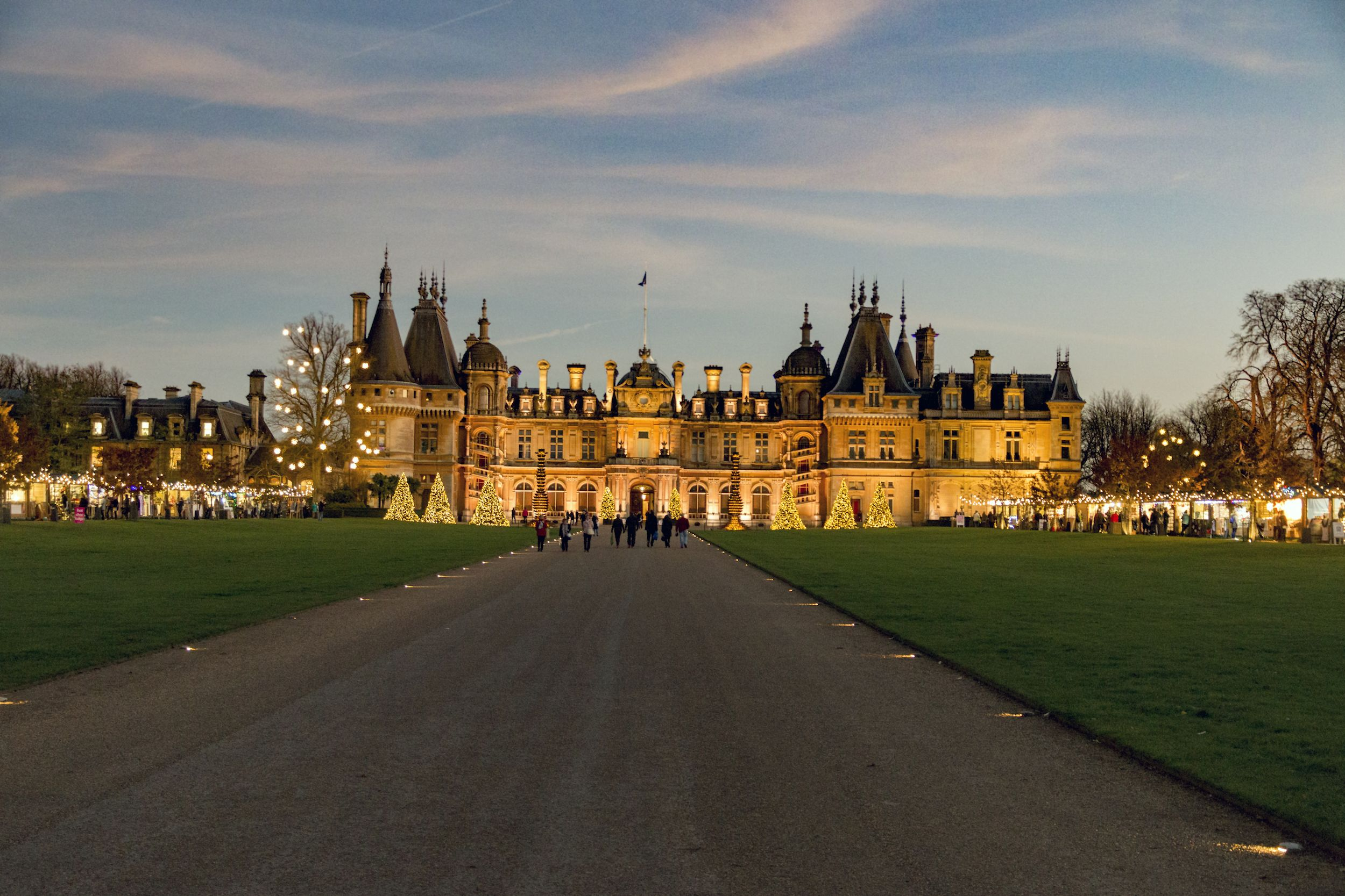 Behind National Trust property Waddesdon Manor's Christmas traditions