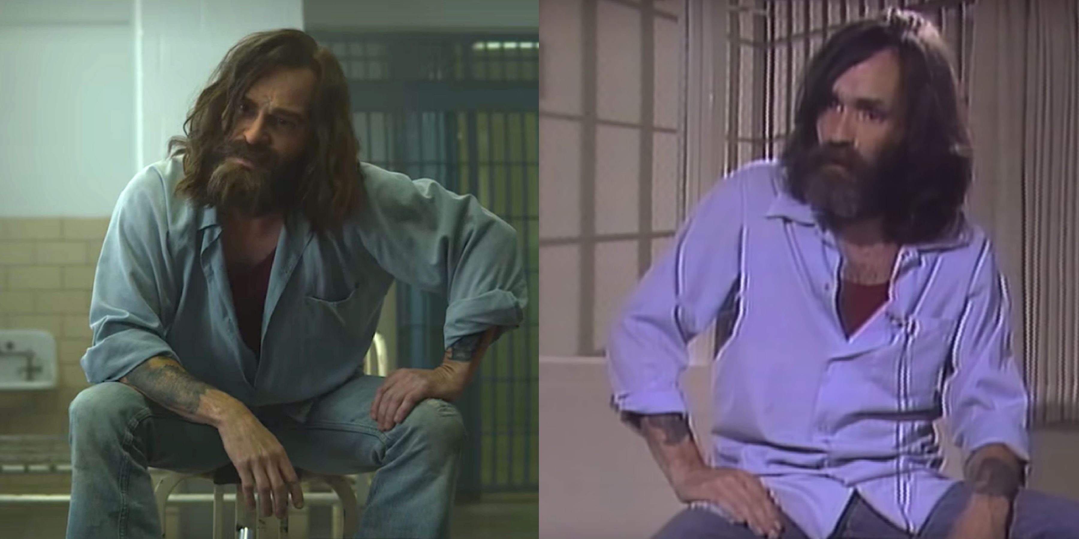 Mindhunter Charles Manson Scene Is Side By Side With Real Manson Interview In New Video
