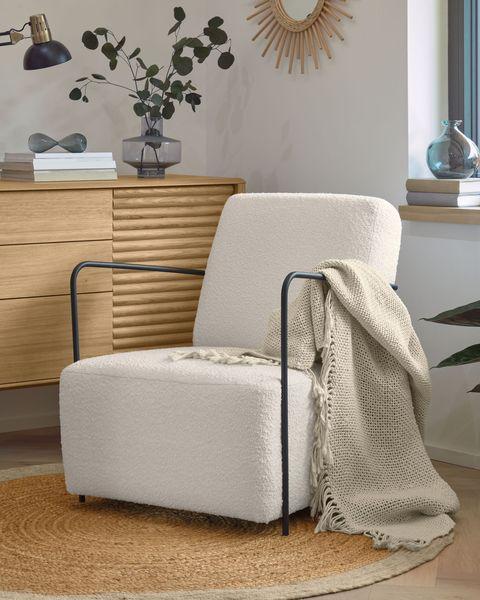 manta de algodón blanco con flecos