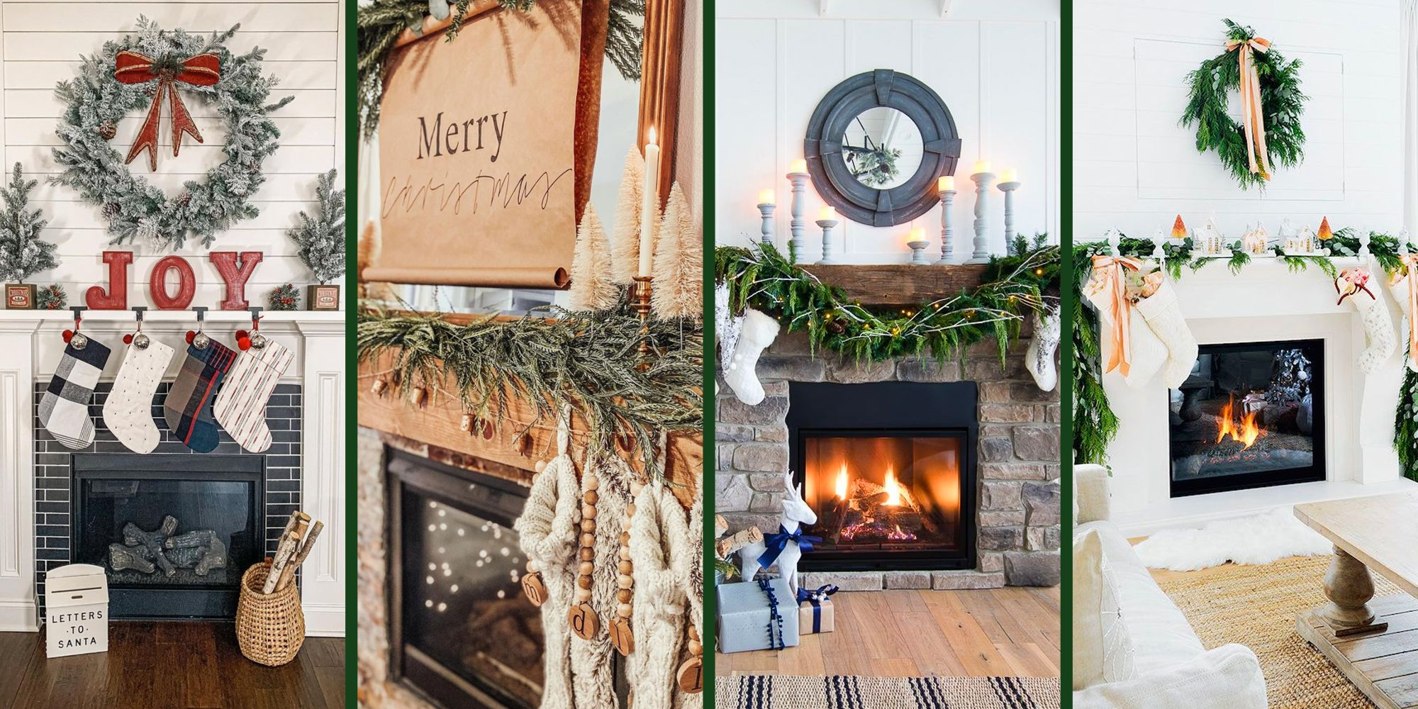50 Christmas Mantel Decor Ideas To Upgrade Your Fireplace 2020