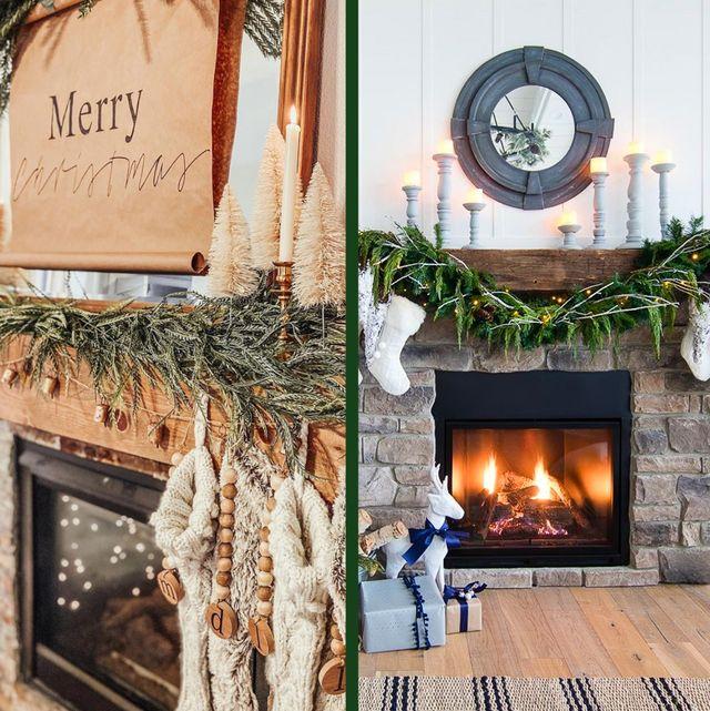 50 Christmas Mantel Decor Ideas To Upgrade Your Fireplace 2020