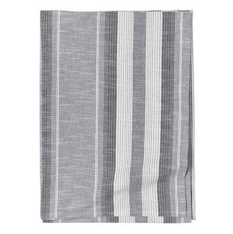 Mantel de algodón a rayas grises de H&M