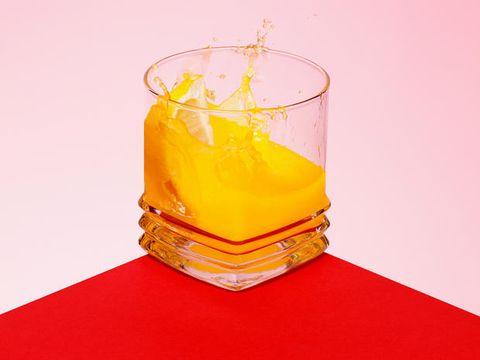 Liquid, Fluid, Ingredient, Drink, Amber, Orange, Serveware, Old fashioned glass, Distilled beverage, Rum,