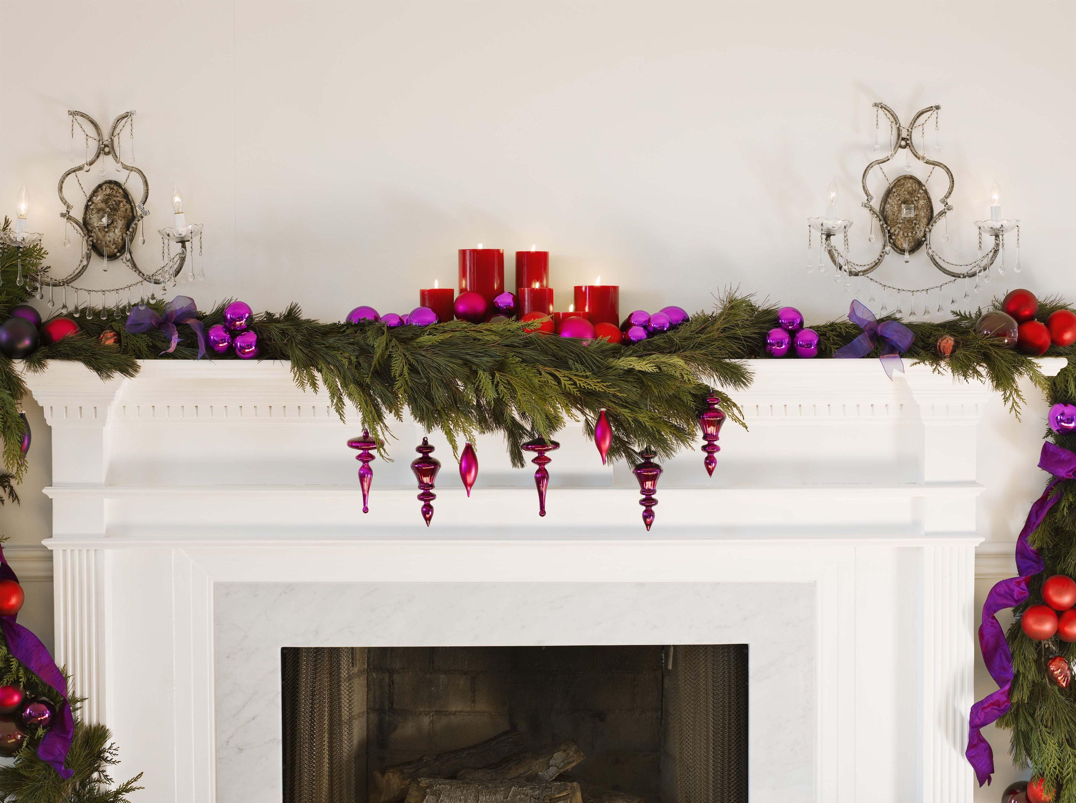 Four ways to style a mantelpiece for Christmas