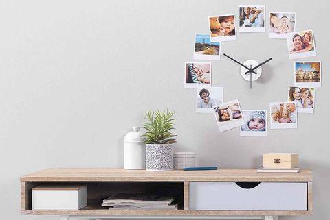 Manualidades: Reloj de pared con fotos