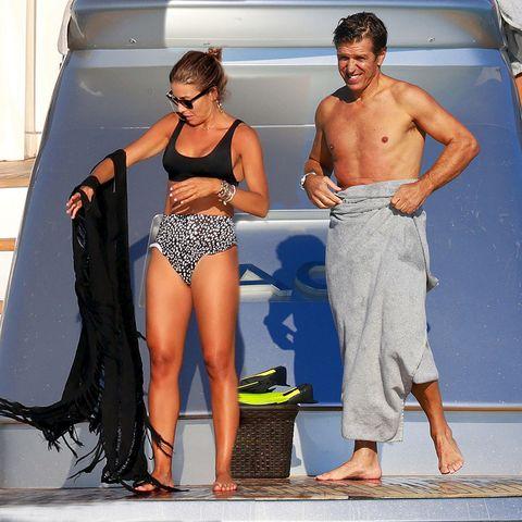 manuel diaz el corbobés y su mujer virginia troconis de vacaciones en ibiza