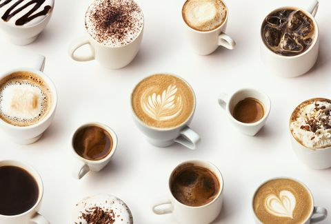 Many different types of gourmet coffee, selection