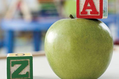alimentación infantil manzana
