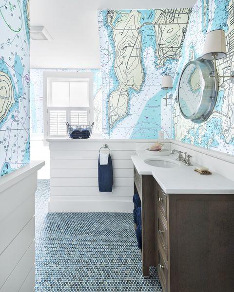 25 Bathroom Wallpaper Ideas Best
