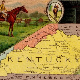 Map Of Kentucky From 'Arbuckles' Illustrated Atlas of the USA'