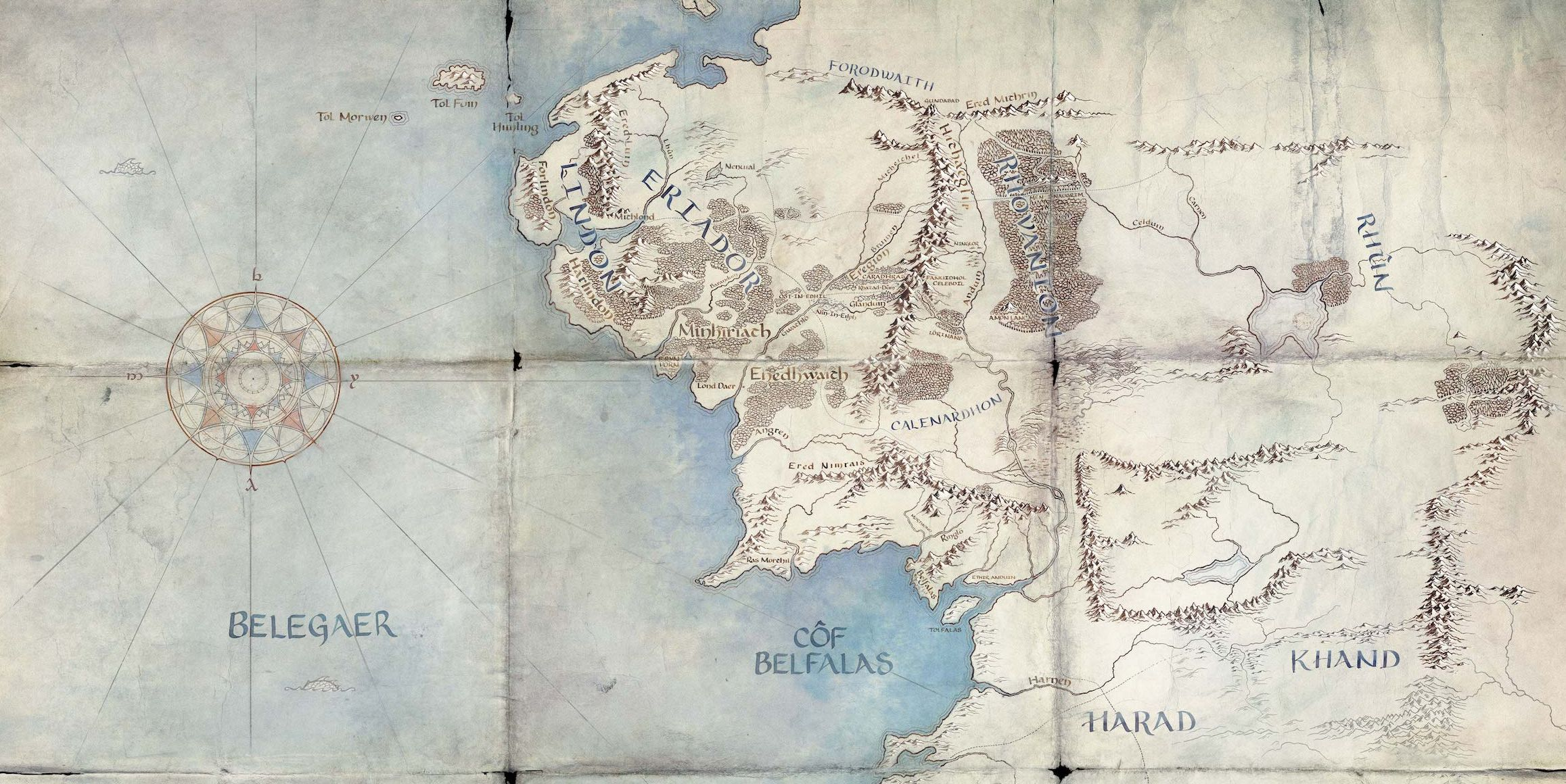 Mapa Tierra Media numenor