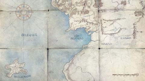 mapa tierra media númenor