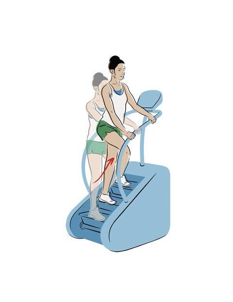 ejercicios glúteos máquina escaleras