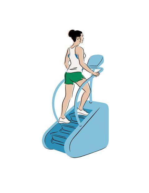glúteos ejercicios paso normal máquina de escaleras