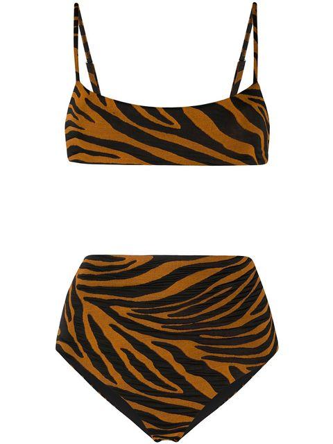 animal print high waisted bikini