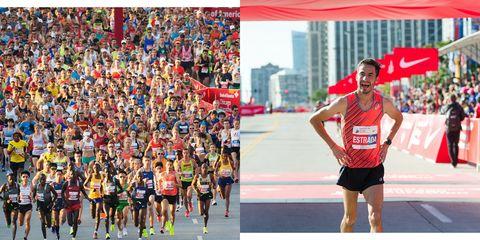 Diego Estrada Competes in Chicago Marathon