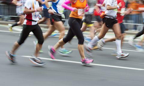 NY Marathon along First Avenue