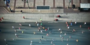 Marathon on street