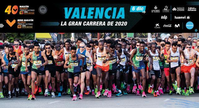 atletas de élite en la maratón de valencia