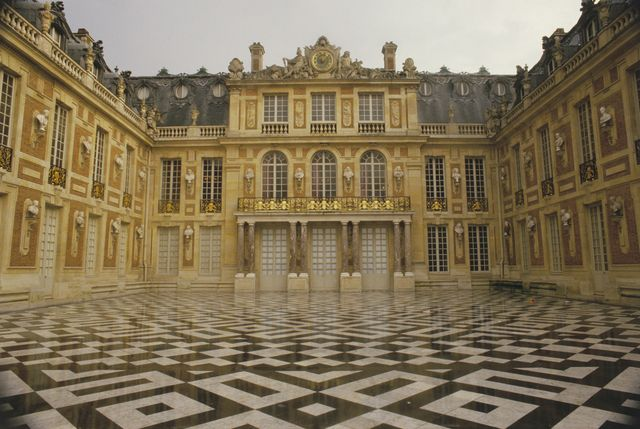 marble court at versailles