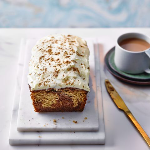 marbled chai and chocolate loaf