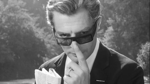 Eyewear, Photograph, Glasses, Sunglasses, Suit, Hairstyle, Black-and-white, Vision care, Cool, Forehead,