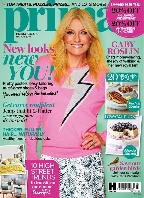Gaby Roslin Prima magazine