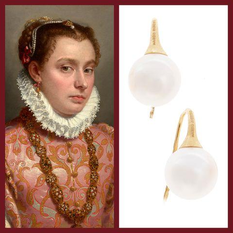 Pearl, Jewellery, Ear, Nose, Fashion accessory, Earrings, Neck, Headpiece,