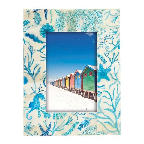 fotografía con marco con detalles marinos