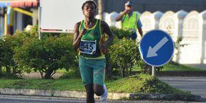 margaret, kuras, atleta, corre, calcetines