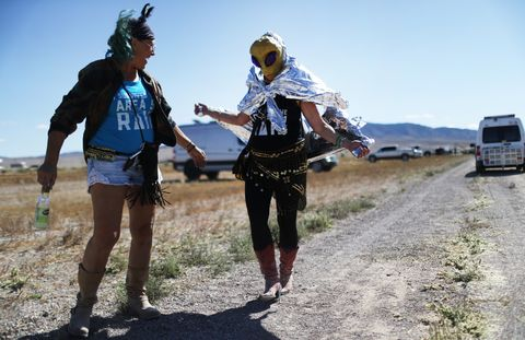 "Revellers Descend On Nevada Desert For ""Storm Area 51"" Gathering"
