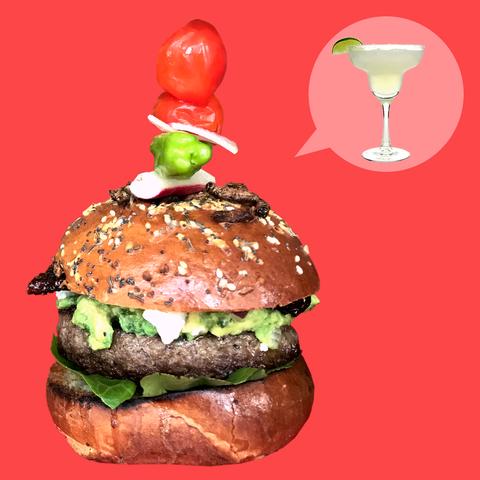 Food, Hamburger, Dish, Veggie burger, Fast food, Cuisine, Cheeseburger, Whopper, Buffalo burger, Junk food,