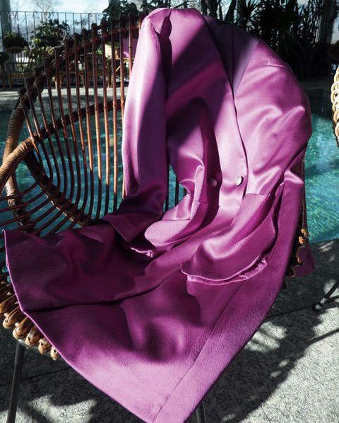 Purple, Pink, Magenta, Violet, Lavender, Bag, Natural material, Velvet, Costume accessory, Silk,