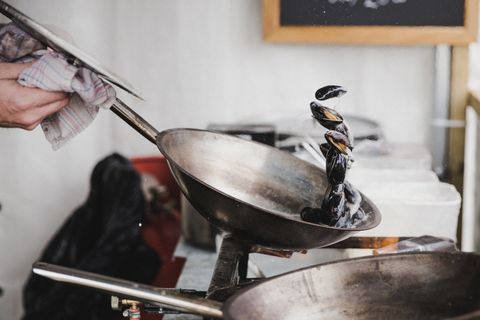 Cookware and bakeware, Wok, Cooking, Food, Dish,