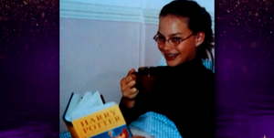 margot robbie adolescente niña harry potter