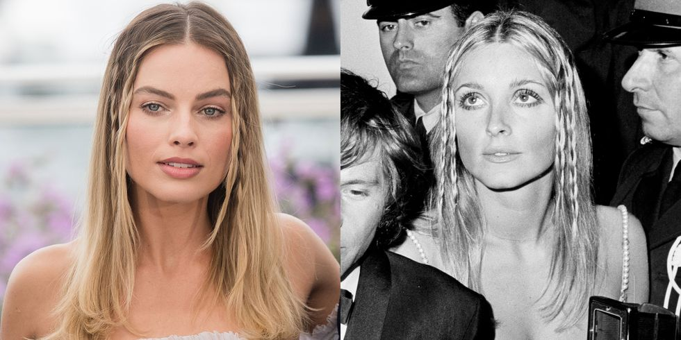 Margot Robbie Recreates Sharon Tate's Iconic 1968 Hairstyle at Cannes Film Festival