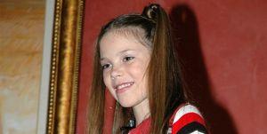 María Isabel López (Eurojunior) de pequeña
