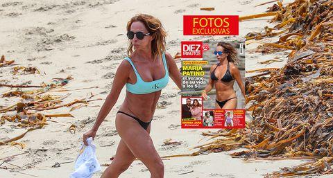 maría patiño disfruta en bikini de la playa en galicia en agosto de 2021