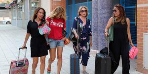 María Patiño, Mila Ximénez, Belen Rodríguez y Raquel Bollo